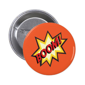 "Comic Text ""Boom"" Button Badge"