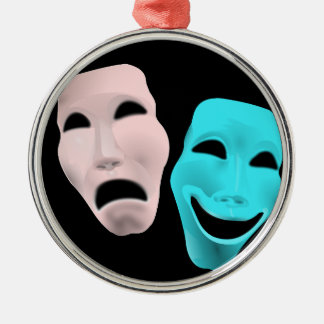 Comic Theatre Masks Christmas Ornament
