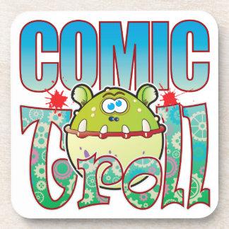 Comic Troll Drink Coasters
