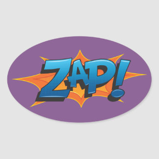Comic Zap! Oval Sticker
