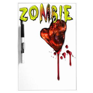 Comic Zombie Love Dry Erase Board