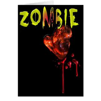 Comic Zombie Love Greeting Card