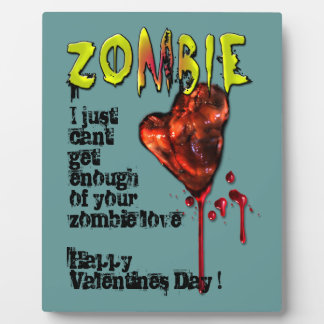 Comic Zombie Love Photo Plaque