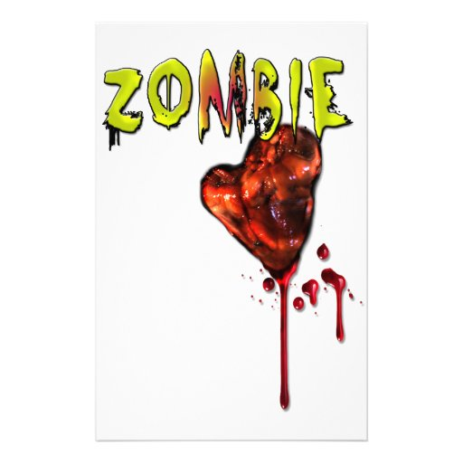 Comic Zombie Love Stationery Design