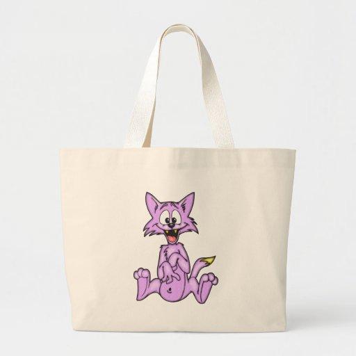 Comical Cartoon Cat Canvas Bag