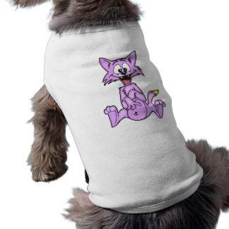 Comical Cartoon Cat Doggie Tee