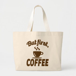 Comical Coffee Lovers Jumbo Tote Bag