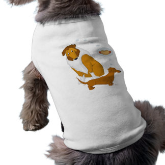 Comical Collie and Dachshund Pet Shirt