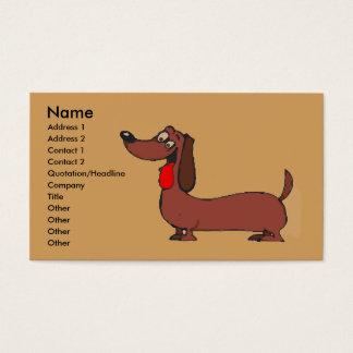 Comical Dachshund Business Card