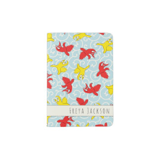Comical funny quarrel cat Asian illustration Passport Holder
