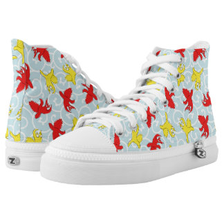 Comical funny quarrel cat Asian illustration Printed Shoes