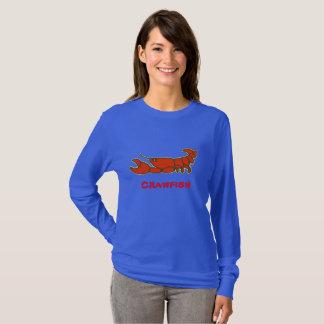 Comical Lobster, Crayfish,Crawfish,change, add tex T-Shirt