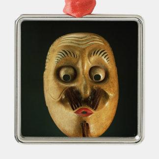 Comical Mask, Noh Theatre Christmas Ornament
