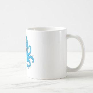 Comical octopus on white basic white mug