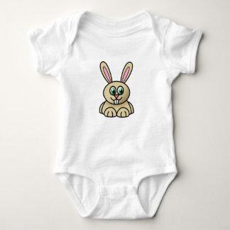 Comical Rabbit Baby Bodysuit