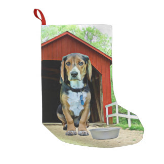 Comical Sandy Creek Covered Bridge Dog House Small Christmas Stocking
