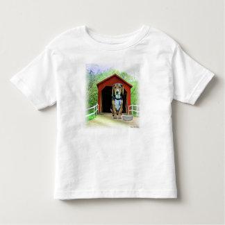 Comical Sandy Creek Covered Bridge Dog House Toddler T-Shirt