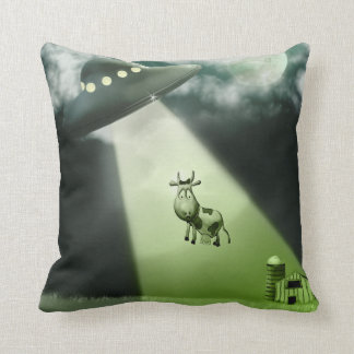 Comical UFO Cow Abduction  American MoJo Pillows Throw Cushion