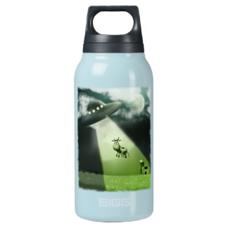 Comical UFO Cow Abduction  Liberty Bottle