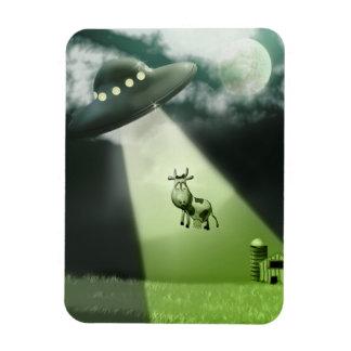 Comical UFO Cow Abduction Premium Flexi Magnet