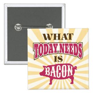 Comical Vintage Style Bacon Meme 15 Cm Square Badge