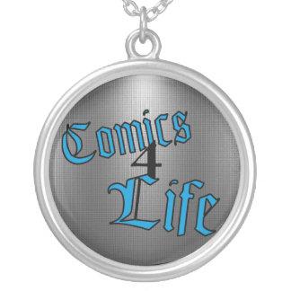 Comics 4 Life Necklace (Inverted Blue)