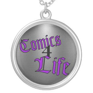 Comics 4 Life Necklace (Inverted Purple)