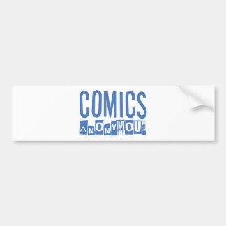 Comics Anonymous Merch Bumper Sticker