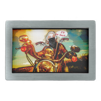 comics biker big belt buckle