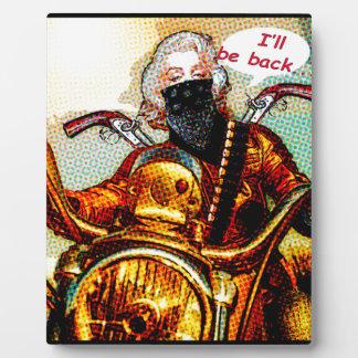 comics biker big plaque