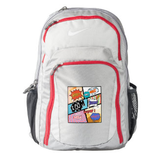 Comics Nike Performance Backpack Wolf Grey/Gym Red