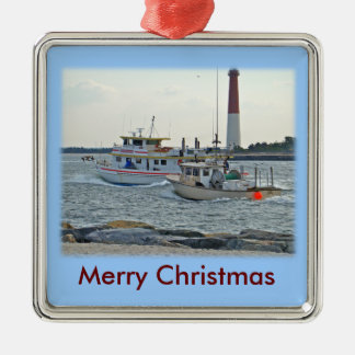 Coming Home - Fishing Boats in Barnegat Inlet Item Christmas Ornament