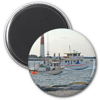 Coming Home - Fishing Boats in Barnegat Inlet Item Refrigerator Magnets