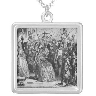 Coming home from church silver plated necklace