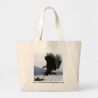 Coming in for landing,... large tote bag