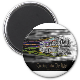 Coming Into The Light 6 Cm Round Magnet