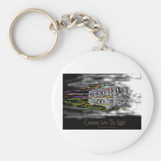 Coming Into The Light Basic Round Button Key Ring