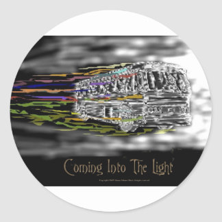 Coming Into The Light Round Sticker