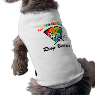 Coming out day sleeveless dog shirt