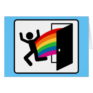 Coming Out Exit Sign Card