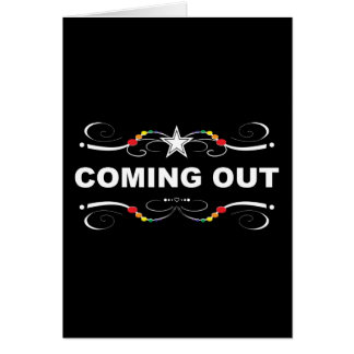 coming out : rainbow flourish greeting card