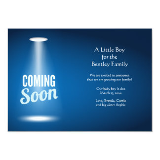 Coming Soon Boy Pregnancy Announcement