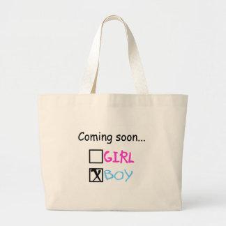 Coming Soon...(Boy) Jumbo Tote Bag