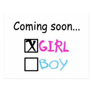 Coming Soon, Girl Postcard