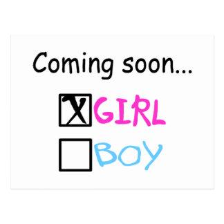 Coming Soon... (Girl) Postcard