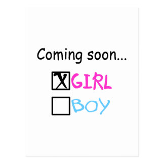 Coming Soon... (Girl) Postcard