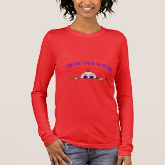 COMING THIS WINTER (Baby Peeking) Maternity Long Sleeve T-Shirt