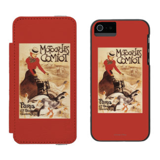 Comiot Motocycles Woman and Geese Promo Poster Incipio Watson™ iPhone 5 Wallet Case