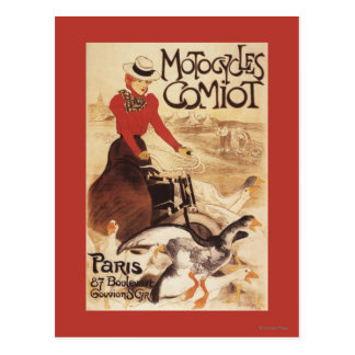 Comiot Motocycles Woman and Geese Promo Poster Postcard