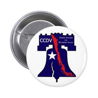 Comite Chileno del Delaware Valley - DDCV 6 Cm Round Badge